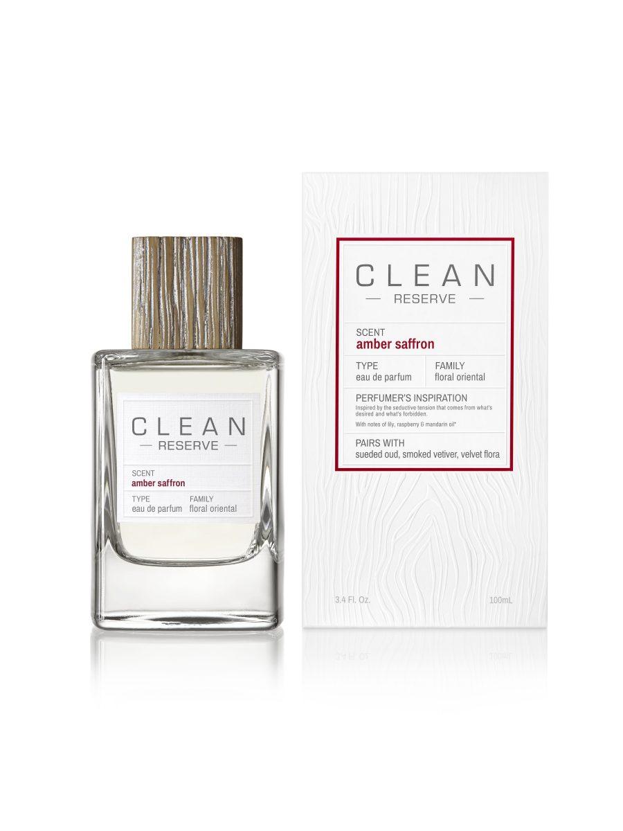 Clean eau de parfum amber safron il posto bio